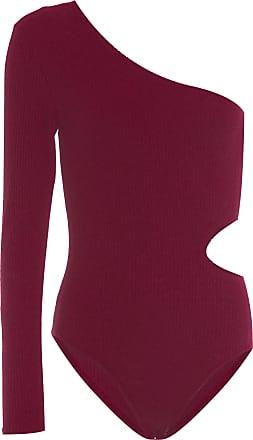 Calvin Klein Body Canelado Ombro - Vermelho