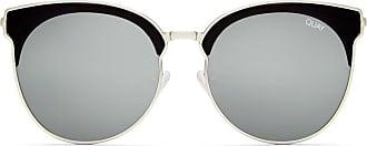 Quay Womens Mia Bella Sunglasses, Black/Silver, One Size