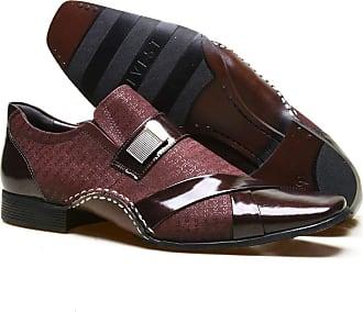 Calvest Sapato Social Masculino Calvest em Couro Viena Bordo - 1930C227BO - 41
