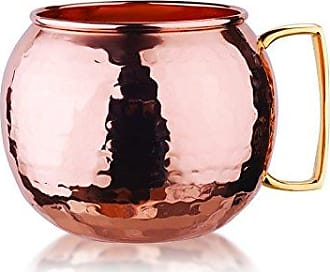 Old Dutch International Hammered Globe Moscow Mule Mug, 32 oz, Copper