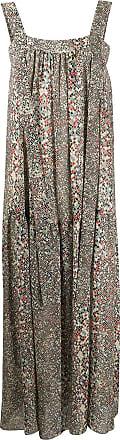 See By Chloé Vestido longo com estampa geométrica - Verde