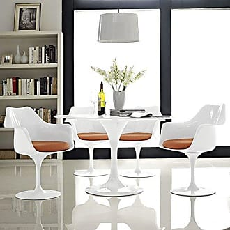 ModWay Modway Lippa Modern Dining Armchairs With Fabric Cushion in Orange - Set of 4