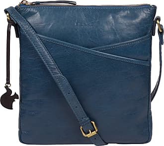 Pure Luxuries London Concka London Avril Womens 24cm Biodegradable Leather Cross Body Bag with Zip Over Top, 100% Cotton Lining and Adjustable Slimline Leather Strap in Sn