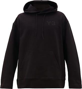 Yohji Yamamoto Logo-patch Cotton-jersey Hooded Sweatshirt - Mens - Black
