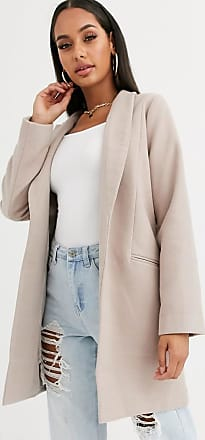 Missguided swing coat in natural-Pink