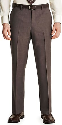 Farah Mens Flex Trouser Pants with Self-Adjusting Waistband Taupe 40W x 31L