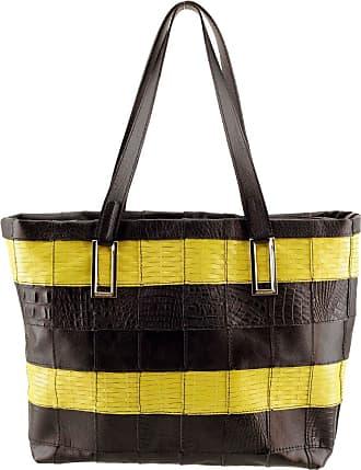 Arzon Bolsa Feminina Patchwork Preto com Amarelo - Preto/Amarelo