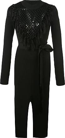 Yigal AzrouËl Macrame Knit Dress - Black
