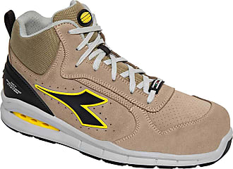 Diadora Run NET AIRBOX MID S1P SRC Safety Shoe with Geox Net Breathing System Beige Size: 1