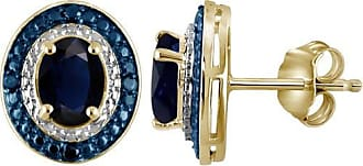 JewelersClub JewelersClub 3.00 Carat T.G.W. Sapphire Gemstone and Blue and White Diamond Accent Earrings