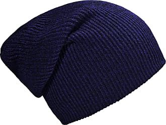 DonDon winter hat for Women and Men Slouch beanie warm classical design Blue - Black