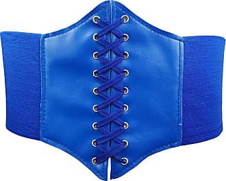 Hoerev Women Girls Elastic Wide Band Elastic Tied Waspie Corset Waist Belt