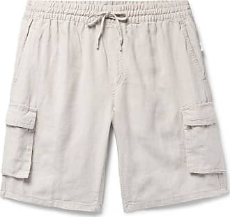 Onia Tom Wide-leg Linen Cargo Shorts - Beige