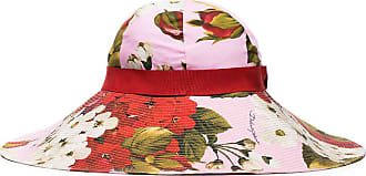 Dolce & Gabbana floral print sun hat - PINK