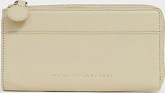 French Connection Vegas leather zip card purse in sand-Beige