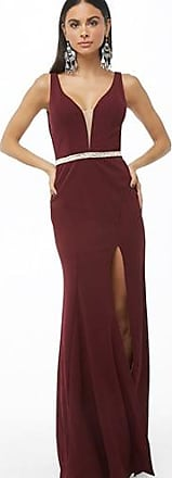 Forever 21 Forever 21 Soieblu Rhinestone Gown Wine