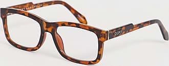 Quay Beatnik - Eckige Brille in Schildpatt mit klaren Gläsern-Transparent