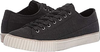 John Varvatos Two-Tone Blended Fabric Low Top (Black) Mens Shoes