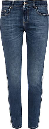 Alexander McQueen Side-stripe Jeans Womens Blue