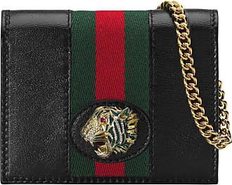 Gucci Carteira com alça de corrente Rajah - Preto