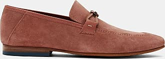 Ted Baker Deconstructed Suede Loafers in Deep Pink SIBLAC, Mens Accessories