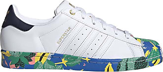 adidas Originals Womens Superstar Shoes Sneaker, White/White/Ink, 6