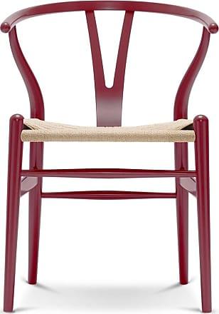 Carl Hansen & Søn CH24 Wishbone Chair in Berry Red Beech & Natural Paper Cord