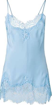 Gold Hawk lace panelled vest - Azul