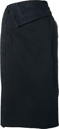 Jacquemus denim foldover pencil skirt - Azul