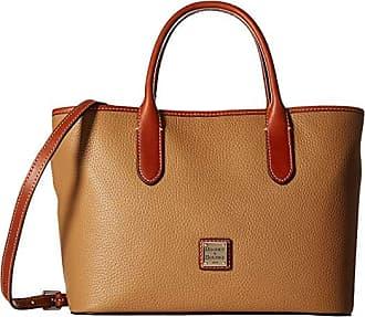 Dooney & Bourke Pebble Brielle (Desert w/ Tan Trim) Handbags
