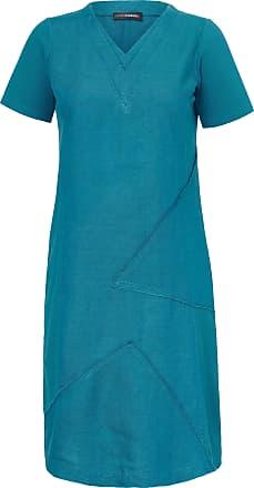 Doris Streich Dress in 100% linen Doris Streich turquoise