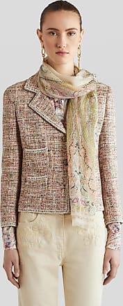 Etro Silk Floral Paisley Print Scarf, Woman, Beige