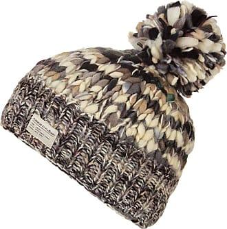 KuSan 100% Wool Bobble Beanie Hat (OneSize) PK1631 (Black/White)