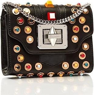 Emm Kuo AUGUSTIN CROSSBODY MINI - BLACK / MULTI COLOR STUDS
