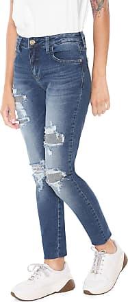 6d815751e Triton Calça Jeans Triton Skinny Cropped Fátima Azul