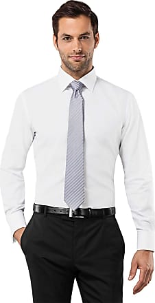 Vincenzo Boretti Mens Shirt Slim-fit Fitted Classic Design Plain Solid Colour 100% Cotton Non-Iron Double Cuff Designer Shirts for Men Formal Office Wedding Ideal with