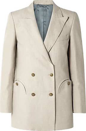Blazé Milano Everyday Double-breasted Wool-crepe Blazer - Off-white