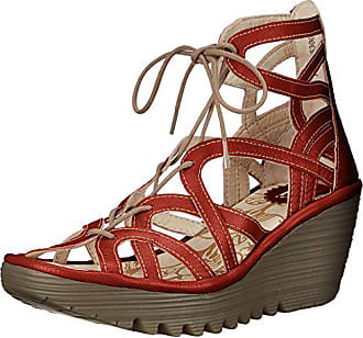 FLY London Womens Yuke663fly Platform Sandal, Brick Cupido/Mousse, 37 EU/6.5-7 M US