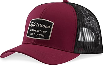 e45e5a28ad9aa Life is good Power Patch Hard Mesh Back Cap OS Wild Cherry