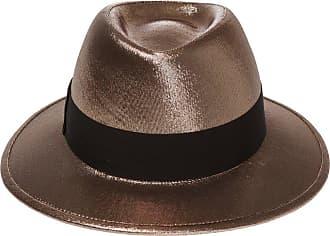 Saint Laurent Hat With Grosgrain Band Womens Gold