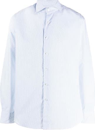 Xacus dotted-pattern buttoned shirt - Blue