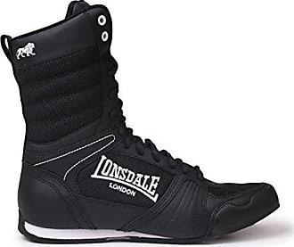 Lonsdale Anwärter-hohe Boxen-Stiefel - Schwarz-weiß UK 3 - EU 36 dd9ce955a8