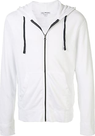 James Perse plain zipped hoodie - White