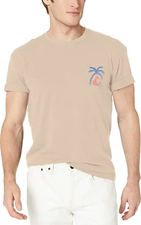 Quiksilver Mens Lonely Palm Short Sleeve TEE Shirt, Pure Cashmere, XL