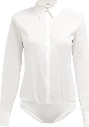Wolford London Effect Cotton-blend Bodysuit - Womens - White