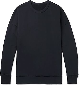 Ten c Garment-dyed Fleece-back Cotton-jersey Sweatshirt - Black