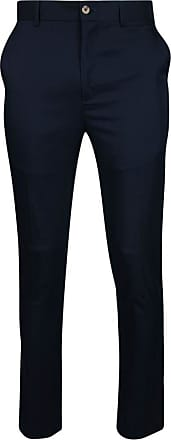Glenmuir Mens Lightweight Performance Golf Trousers Navy Regular 32