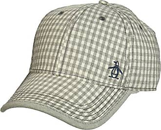 Original Penguin Mens Gingham Baseball Cap, Grey, One Size