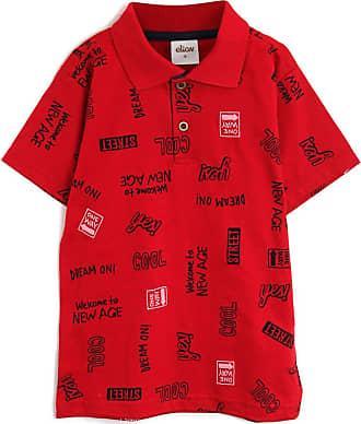 Elian Camisa Polo Elian Menino Estampa Vermelha