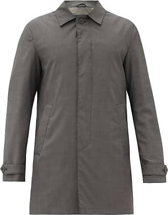Herno Wool-twill Overcoat - Mens - Grey